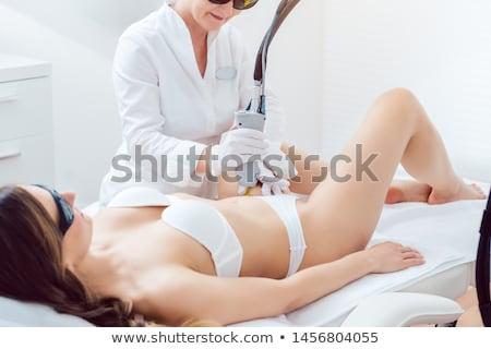 Foto stock: Cabelo · remoção · biquíni · laser · dispositivo · mulher · jovem
