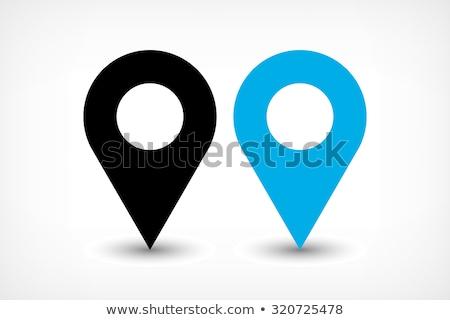 падение карта GPS расположение приложение икона Сток-фото © pikepicture