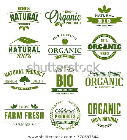 Foto stock: Orgánico · naturales · alimentos · 100 · por · ciento · frescos