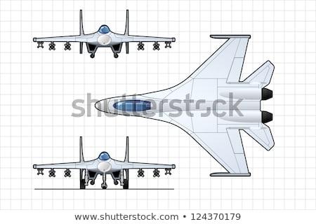 vechter · vliegtuigen · illustratie · witte · vliegtuig · wetenschap - stockfoto © mechanik