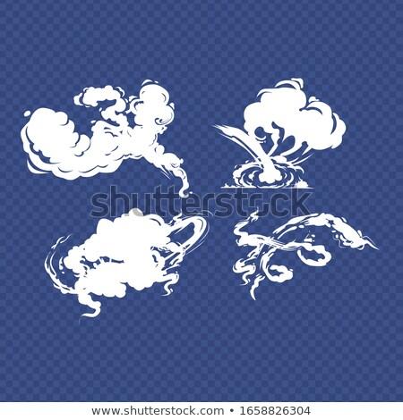 Karikatur Rauch Set Rauchen Auto Bewegung Stock foto © Andrei_