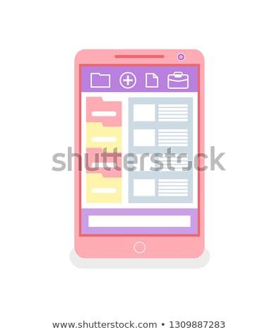 Telefoon mappen portefeuille vector web Stockfoto © robuart