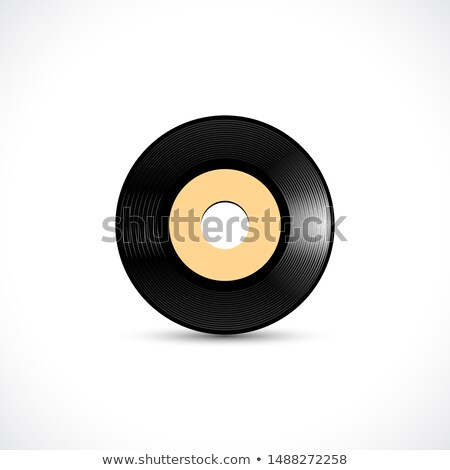 Vinyl disc 7 inch EP wide hole with shiny grooves Stock photo © SwillSkill