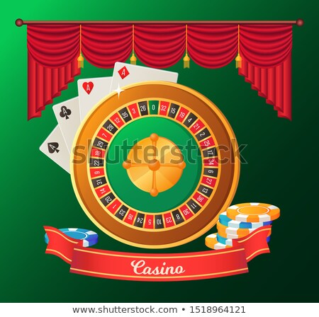Gaming Casino, Devils Books, Striped Chips Vector Stock photo © robuart