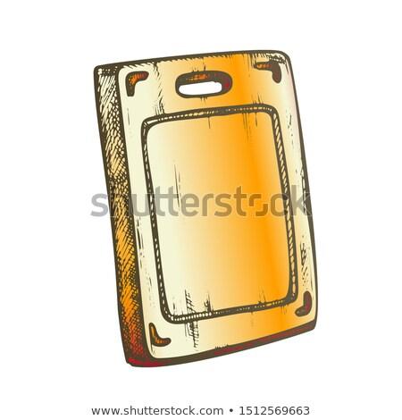 Kitchen Wooden Desk Kitchenware Color Vector Stock photo © pikepicture