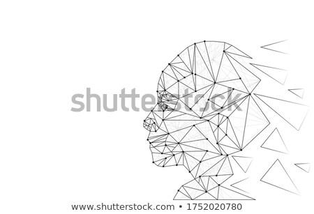 識別 認識 コンピュータ 技術 セキュリティ 青 ストックフォト © ra2studio