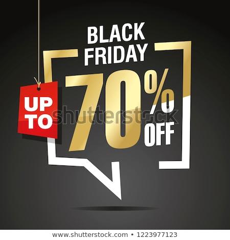 Black friday groot verkoop procent reductie af Stockfoto © robuart