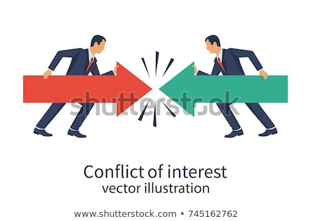 Politiek crisis vector metaforen oneerlijk overheid Stockfoto © RAStudio