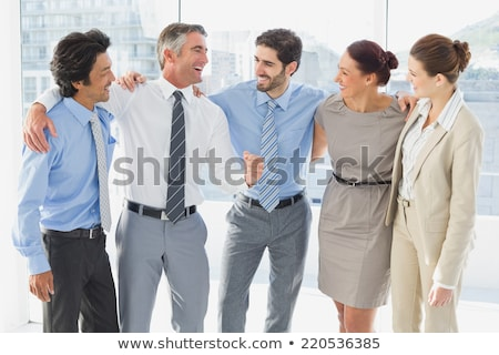 front view of caucasian businessman speaking at a business seminar in office building stock photo © wavebreak_media