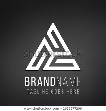 Stockfoto: Logo-ontwerp · lijnen · vorm · driehoek · Blauw · kleur