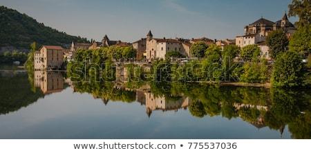 Vadi nehir Fransa manzara su doğa Stok fotoğraf © borisb17