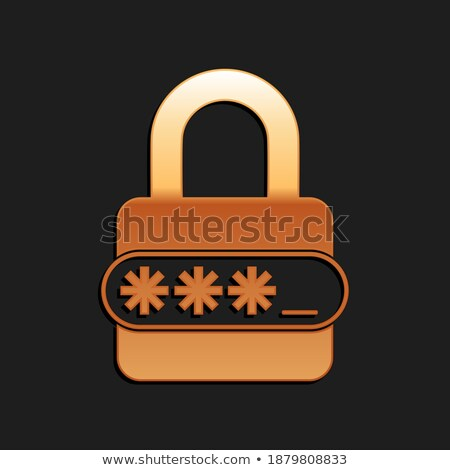 Safety Technology, Golden Padlock, Privacy Vector Stock photo © robuart