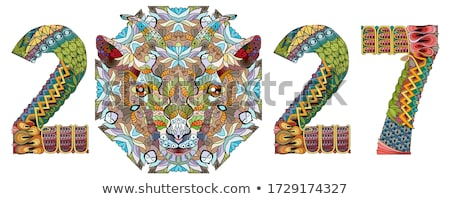 Zentangle stylized goat number 2027. Hand Drawn lace vector illustration for coloring Stock photo © Natalia_1947