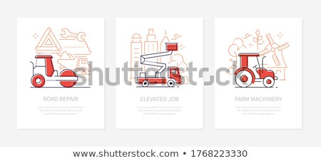 Special transport - line design style banners set Stock photo © Decorwithme