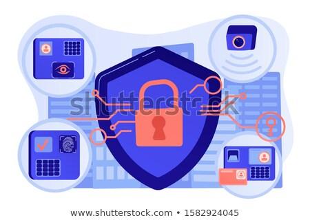 Access control system abstract concept vector illustration. Stock photo © RAStudio