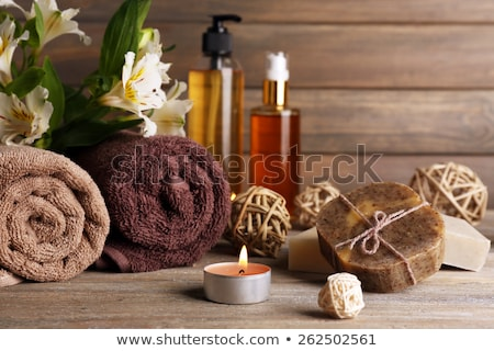 Spa composition with alstroemeria flowers Stock photo © almaje
