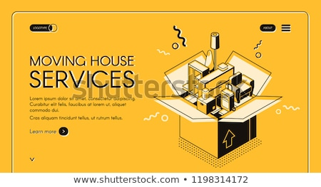 Moving house services concept landing page. Stock photo © RAStudio