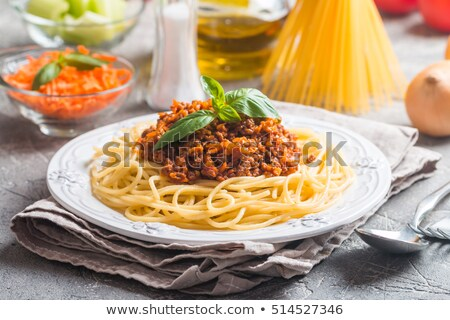 White plate mincemeat stock photo © RuslanOmega