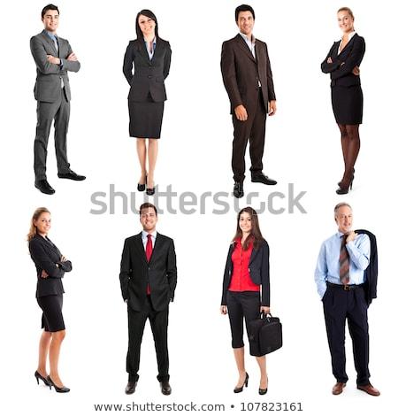 retrato · altos · mujer · de · negocios · sonriendo · mujer · de · negocios - foto stock © dnsphotography