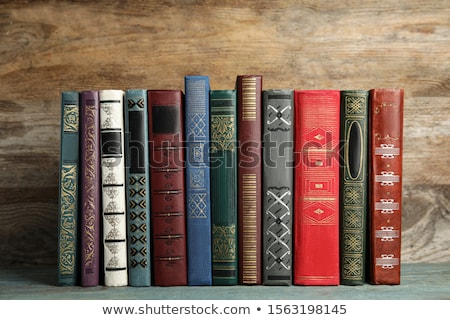 Row of colorful books' spines Stock photo © AndreyKr