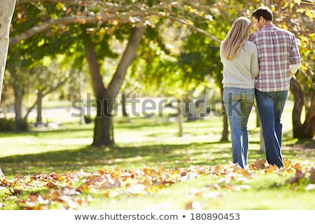 couple · marche · parc · bois · forêt - photo stock © photography33
