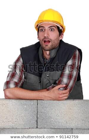 A dumbfounded mason. Stock photo © photography33