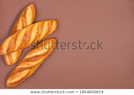 Three Crusty Baguettes With Copy Space stock photo © klsbear