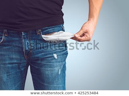 üres zseb férfi húz ki izolált Stock fotó © lorenzodelacosta