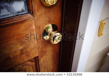 家 ドアの鍵 実例 青 キー ストックフォト © lkeskinen