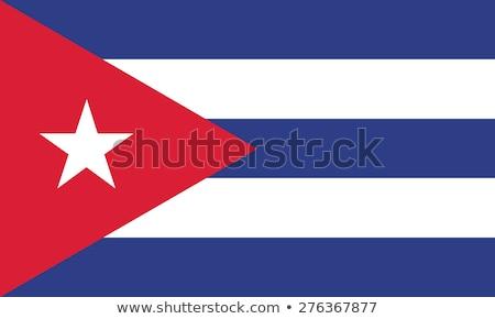 кубинский флаг Гранж изображение подробный Сток-фото © stevanovicigor