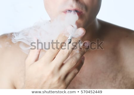 Smoking Man - Exhale Stock photo © lisafx