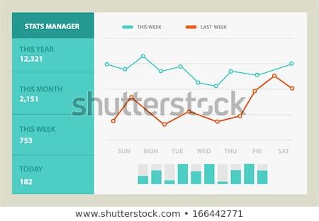 empresário · em · movimento · crescimento · gráfico · animado · caucasiano - foto stock © experimental