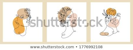 haute · couture · trendi · nő · kreatív · hajviselet · bámul - stock fotó © pressmaster