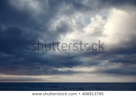 облачный небе бурный морем Blue Sky пляж Сток-фото © acidgrey