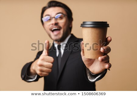 портрет · бизнесмен · кофе · чемодан · белый · сумку - Сток-фото © wavebreak_media