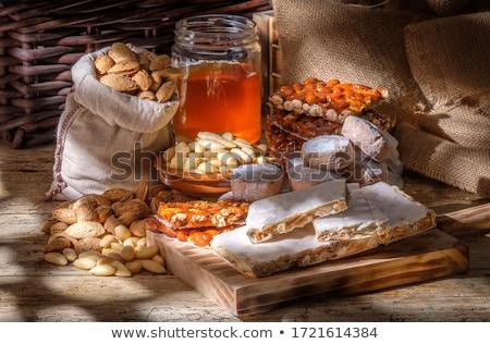 орехи меда белый компонент кулинария Сток-фото © Masha