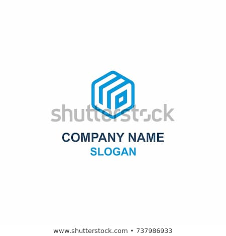 blue cube with word brand on boxes Stock photo © marinini