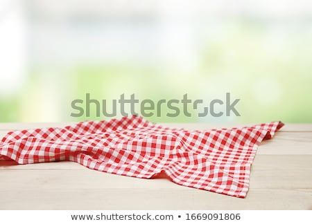 赤 テーブルクロス 詳細 抽象的な ファブリック 印刷 ストックフォト © elxeneize