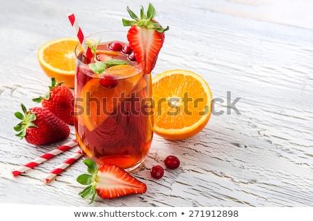 Fragola arancione bevande fragole arance bere Foto d'archivio © wavebreak_media