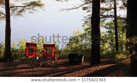 Táborhely ül perem tó park Ontario Stock fotó © ca2hill