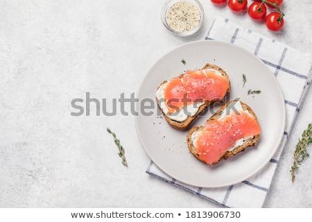 ストックフォト: 白パン · トースト · 孤立した · 白 · 食品 · 健康