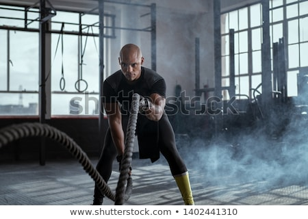 Adam halat siluet atış Stok fotoğraf © jrstock