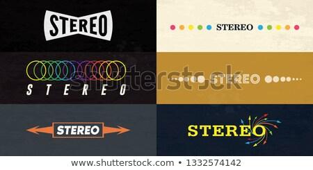 Estéreo madera orador Foto stock © zzve