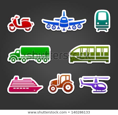 Szett matricák szállítás szín feliratok autó Stock fotó © Ecelop