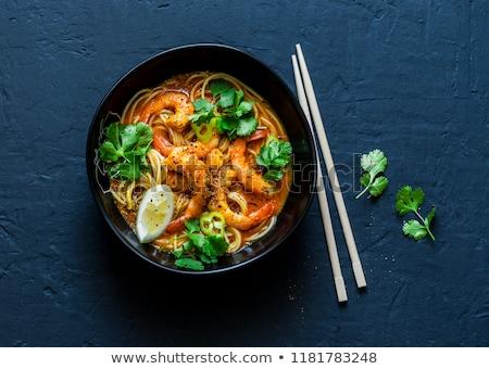 Asya vejetaryen çorba baharatlı sos iki Stok fotoğraf © doupix