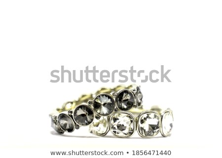 Silver Bead Bracelet over Black  Stock photo © tainasohlman