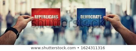 Demokrat cumhuriyetçi parti kırmızı beyaz Stok fotoğraf © alexmillos