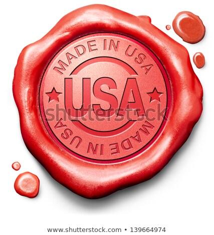 USA stempel Rood wax zegel geïsoleerd Stockfoto © tashatuvango