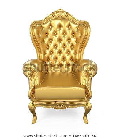 Golden armchair Stock photo © smuki