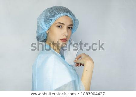 Portré fiatal kaukázusi nő dolgozik orvosi Stock fotó © ambro